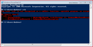 All I wanted to do was ssh...